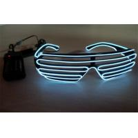 Wholesale Shutter Shades White Color El Wire Sunglasses Controlled By 2 CR2032 Battery from china suppliers
