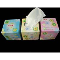 Quality Cube Box Facial Tissue Paper , 2ply * 100 sheets per box for sale