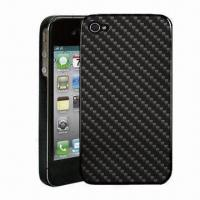 Quality Carbon Fiber Skin for iPhone 4G, Easy to Install and Remove for sale