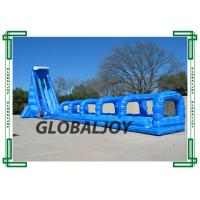 Wholesale Outdoor big inflatable blue crush water slide Fire-Resistant pipeline slide from china suppliers