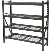 Wholesale Silver 4 Tier Shoe Storage Rack Shelf , Big Space Storage Metal Shelves from china suppliers