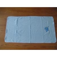 Wholesale woven terry faric blue embroidered bath towels,towel factory from china suppliers
