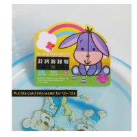 Liquid Crystal Color Change Baby Bath Water Thermometer Card Customized