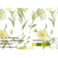 Quality Painting Flower Design Sublimation Printing On Fabric with Stable color fastness for sale