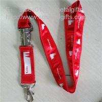 Wholesale Expensive deluxe metal detachable buckle double layered satin overlaid neck lanyards, from china suppliers