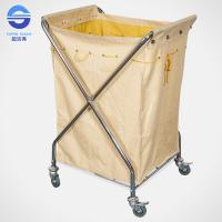 Wholesale Yellow Housekeeping Laundry Serving Trolley With Wheels 68*59*105cm from china suppliers