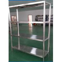 Wholesale Heavy Duty Shelving Stainless Steel Display Stands , Warehouse Rack System from china suppliers