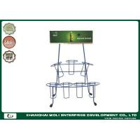 Wholesale Wire Counter Soft Drinks Display Metal Rack  Two Liers Metal Stands Shelves from china suppliers