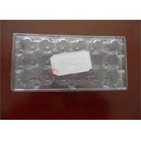 Wholesale Poultry Equipment PET Custom Made Egg Cartons , Durable Plastic Egg Boxes from china suppliers