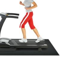 Wholesale Folding Black Treadmill Floor Mat With Shockproof , Treadmill Shock Absorber Mat from china suppliers