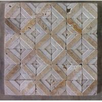 Wholesale Natural Stone Mosaic China Travertine Mosaic Convex Flower Surface for Wall Decoration from china suppliers