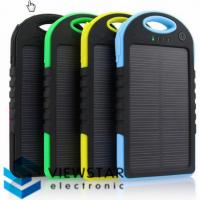Wholesale Universal 5000mAh External Backup Battery Charger Solar Power Bank Silicon Rubber Cover from china suppliers