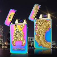 Quality dragon  eager usb rechargeable lighter electronic double ARC lighter for sale