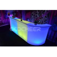 Wholesale PE High Nightclub Bar Counter Event Glowing Outdoor Furniture from china suppliers