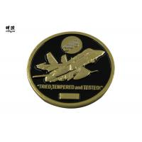 Wholesale Plane Design Custom Challenge Coins With Black Soft Enamel Fill from china suppliers