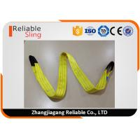 Quality Polyester Flat Double Eye Webbing Sling Color Code Lifting Sling EN 1492-1 Standard for sale