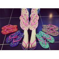 Wholesale Sweet Smell Womens Thong Flip Flops , Ladies Beach Flip Flops Slippers Open Toe from china suppliers