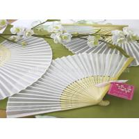 Wholesale Solid Color Printed Bamboo Fabric Hand  Fan For Promotion , Gifts With Variety Colors from china suppliers