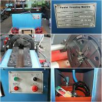 Wholesale High Efficiency Rebar Coupler Machine , 3 Phase Chaser Portable Rebar Threading Machine from china suppliers