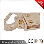 Bag metal d ring buckle,light gold bag metal accessories 20.24*27.4mm