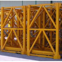 Quality OEM Yellow Painted Anti - Corrosion Steel Hoist Tower Crane Mast 2.4 x 2.4 x 5 m for sale