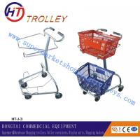 Wholesale Environmental Retail 2 Basket Shopping Trolley Unfloding In Japan Style , 60 to 240 Liters from china suppliers