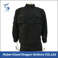 Wholesale Poly Cotton Black Swat Security Workwear Uniforms Embroidery Logo For Police Duty from china suppliers
