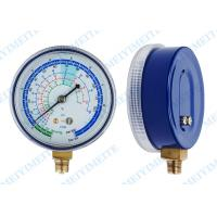 "Quality 2.7"" PC Screw In Lens Freon Pressure Gauge Measurement With Brass Internals for sale"