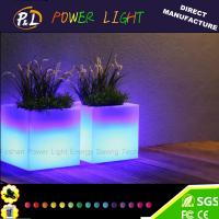 Wholesale Garden Plastic Led Cube Flowerpot 40 × 40 × 40 cm with Remote Control from china suppliers