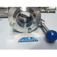 Wholesale Sanitary Stainless Steel Butterfly Valve with Weld Ends (ACE-DF-2D) from china suppliers