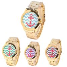 Buy cheap Anchor Dial Women Quartz Wrist Watch Platinum Geneva Gold Watch from wholesalers