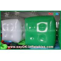 Wholesale Advertising White Green Inflatable Balloon / Cube Helium Balloon With Logo Print from china suppliers