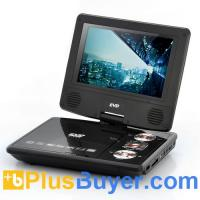 Wholesale 7 Inch Swivel Screen Portable DVD Player with Media Copy Function from china suppliers