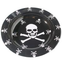 Wholesale Printed Round Black Metal Tin Plate Serving Tray For Food / Water from china suppliers
