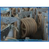 Wholesale Transmission Line Stringing Mounted Pulleys for Steel Cable Wire Rope , Galvanized Steel Frame from china suppliers