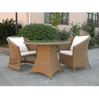 Wholesale Outdoor Rattan Furniture Sofa Chair Set For Garden / Patio Brown from china suppliers