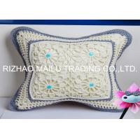 Buy cheap White With Brown Edge Hollow Out Hand Knitting Cushion Covers And Car Seat from wholesalers