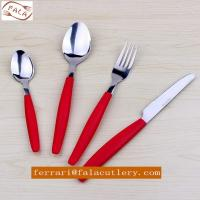 Wholesale Wholesale Camping 16pcs Tomato Plastic Round handle Cutlery Set from china suppliers