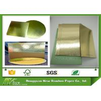 Wholesale Grey Back Cake Boards Metalized Shiny Laminated Gold Foil Paper from china suppliers