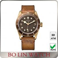 Wholesale Original Swiss Movt Bronze Mens Watches With Leather Strap Super C3 Lunimous from china suppliers