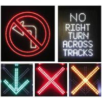 Wholesale SMD Road LED Lane Control Signs Color Configuration Red Cross / Green Arrows from china suppliers
