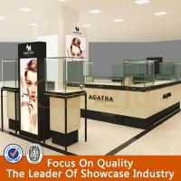 Wholesale easy to assemble mdf wood jewelry kiosk showcase counter from china suppliers