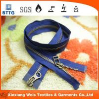 Buy cheap Xinxiang EN11612 NO5  metal close end metal fire retardant zipper from wholesalers
