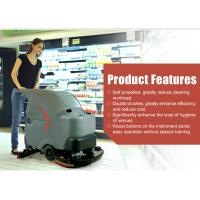 Full automatic battery walk behind floor scrubber cleaning equipment YJ-S7T
