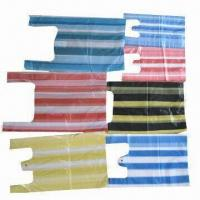 Buy cheap Stripped Retail Plastic Bags with Customized Sizes and Colors are Accepted from wholesalers