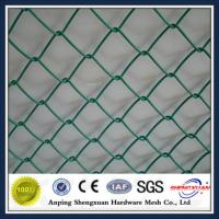 Wholesale Anping factory PVC diamond mesh chain wire fence from china suppliers