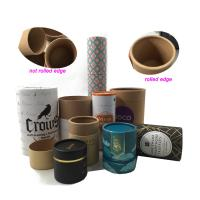Wholesale Biodegradable Cylinder Packaging Round Paper Carton Box , Cardboard Tube With Lid from china suppliers