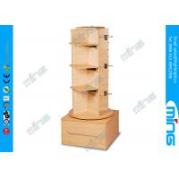Wholesale Clothing Stores 3 Steps Wooden Store Displays Slatwall Stand with Four Sided from china suppliers