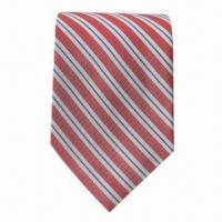 China Men's 100% Silk Ties, Available in Standard Size on sale