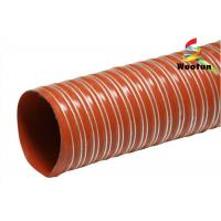 Wholesale Iron Oxide Red Silicone Coated Fiberglass Fabric High Temperature Flexible Duct from china suppliers